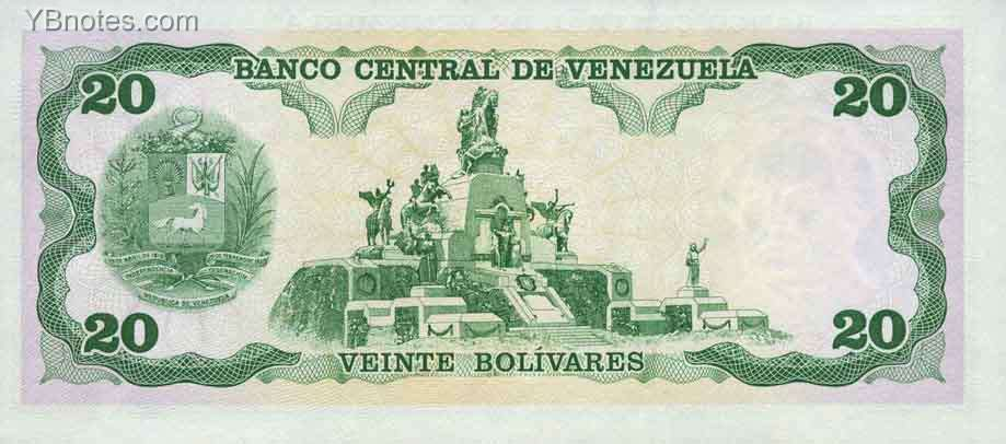 委内瑞拉 Pick 63d 1992.12.8年版20 Bolivares