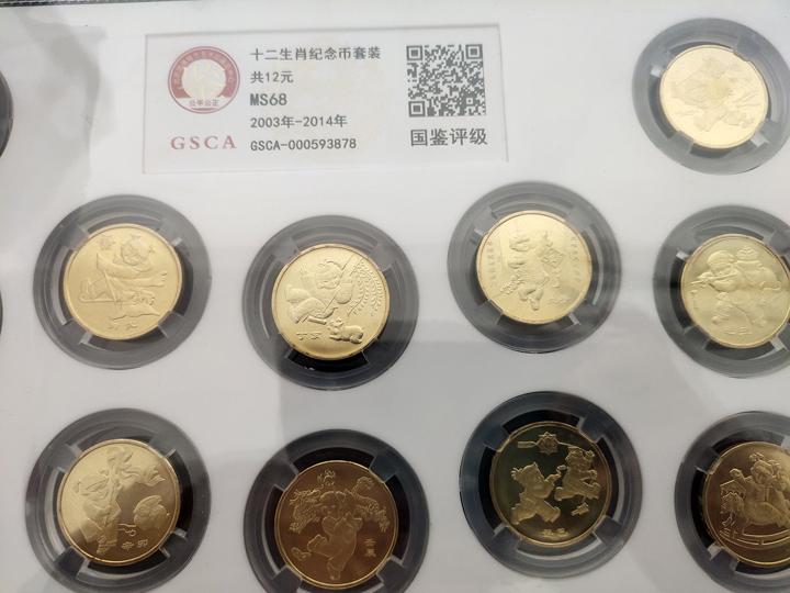 一轮十二生肖纪念币